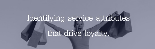 Identifying service attributes that drive loyalty.