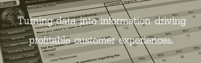 Turning data into information driving profitable customer experiences.