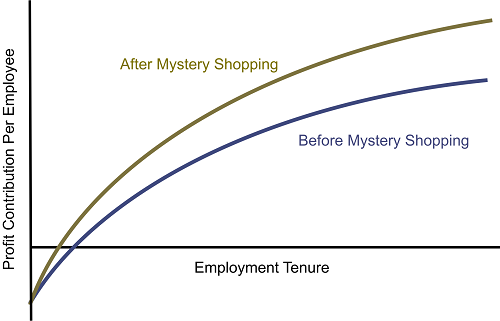 Mystery shopping improves profit contribution per employee